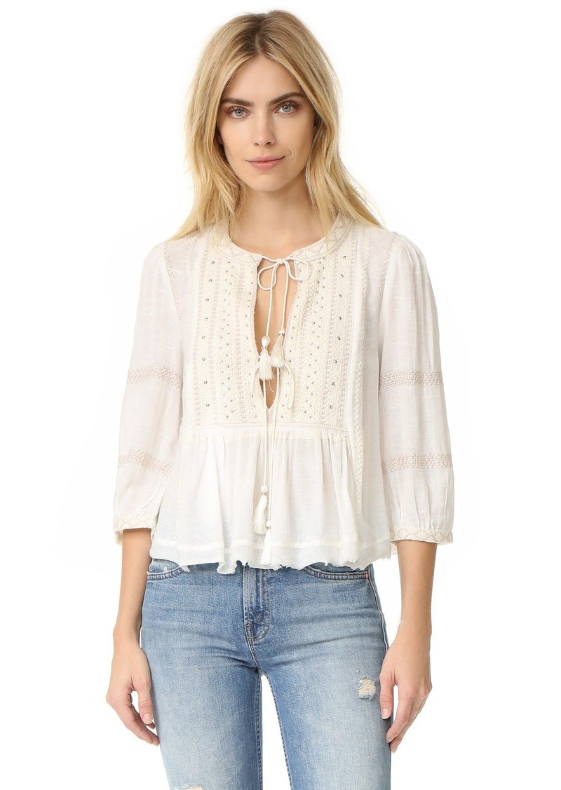 73001ae4b2623e Free People Free People The Wild Life Embroidered Top | Casual Shirts