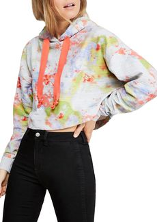 Free People Thinkin About You Tie-Dye Cropped Sweatshirt