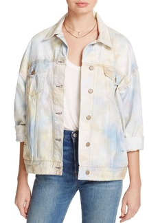 Free People Tie-Dye Denim Trucker Jacket