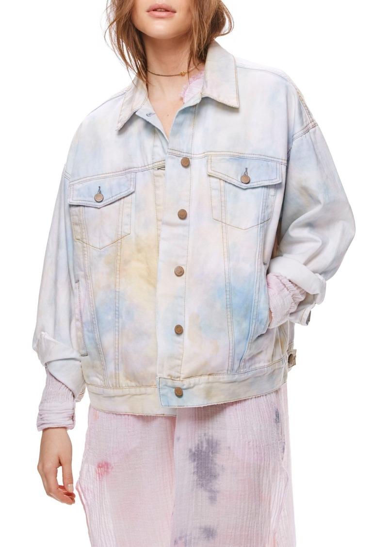 46503fbe1 Tie Dye Denim Trucker Jacket