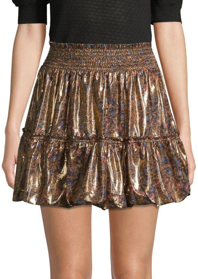 Free People In A Bubble Mini Skirt