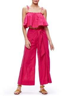 Free People Tropic Babe Crop Top & High Waist Pants Set