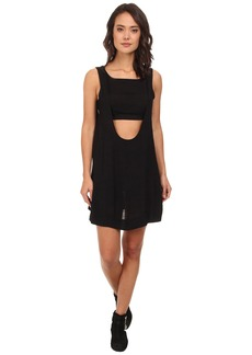 Free People Tropical 2-fer Solid Mini Dress