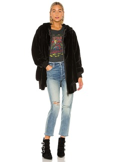 Free People Turn Up Zip Off Hoodie