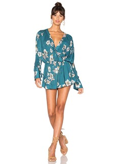 Free People Tuscan Dreams Printed Tunic in Blue. - size L (also in M,S)