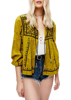 Free People Twilight Embellished Cotton Jacket