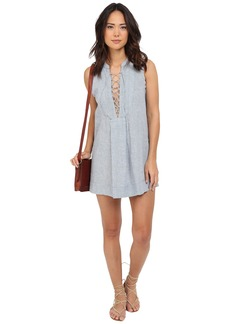Free People Twill Poppin Mini Dress