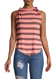 Free People Twist Striped Tank Top