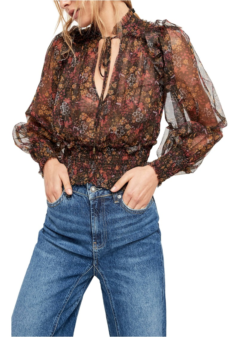 Free People Twyla Printed Top