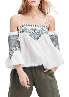 Free People Vacay Vibin' Cold Shoulder Top
