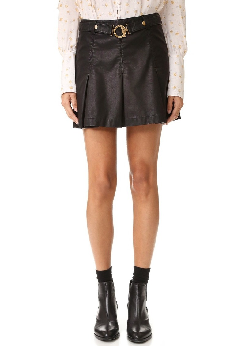 Free People Vegan Leather But I Love It Skirt