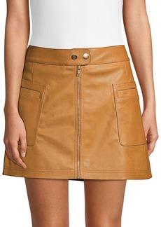 Free People Vegan Leather Mini Skirt