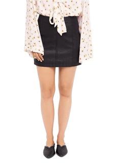 Free People Vegan-Leather Mini Skirt