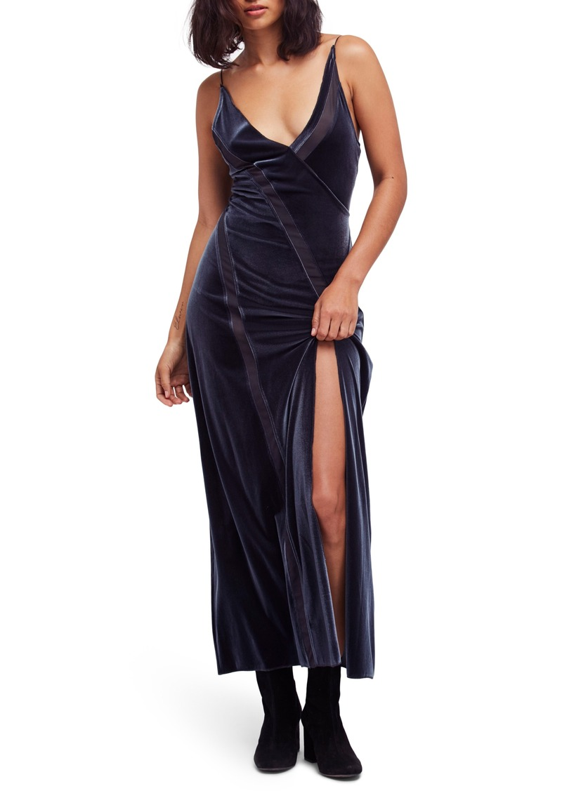 Free People Velvet Maxi Dress