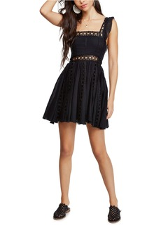Free People Verona Lace Trim Minidress