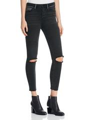 Free People Vintage Stretch Studded Skinny Jeans in Black