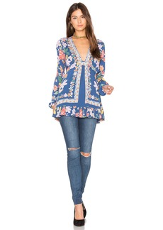 Free People Violet Hill Printed Tunic Top