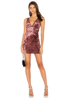 Free People Viper Velvet Mini Dress in Wine. - size M (also in L,S,XS)