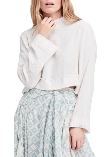 Free People Waking in Hueco Crop Sweater