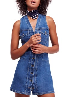 Free People Wandering Star Denim Minidress