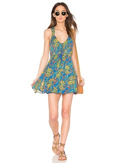 Free People Washed Ashore Mini Dress in Blue. - size L (also in M,S,XS)