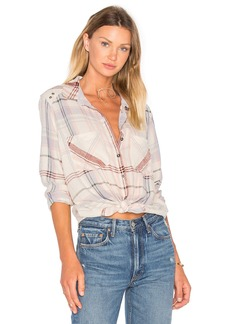 Free People Wesley Plaid Top