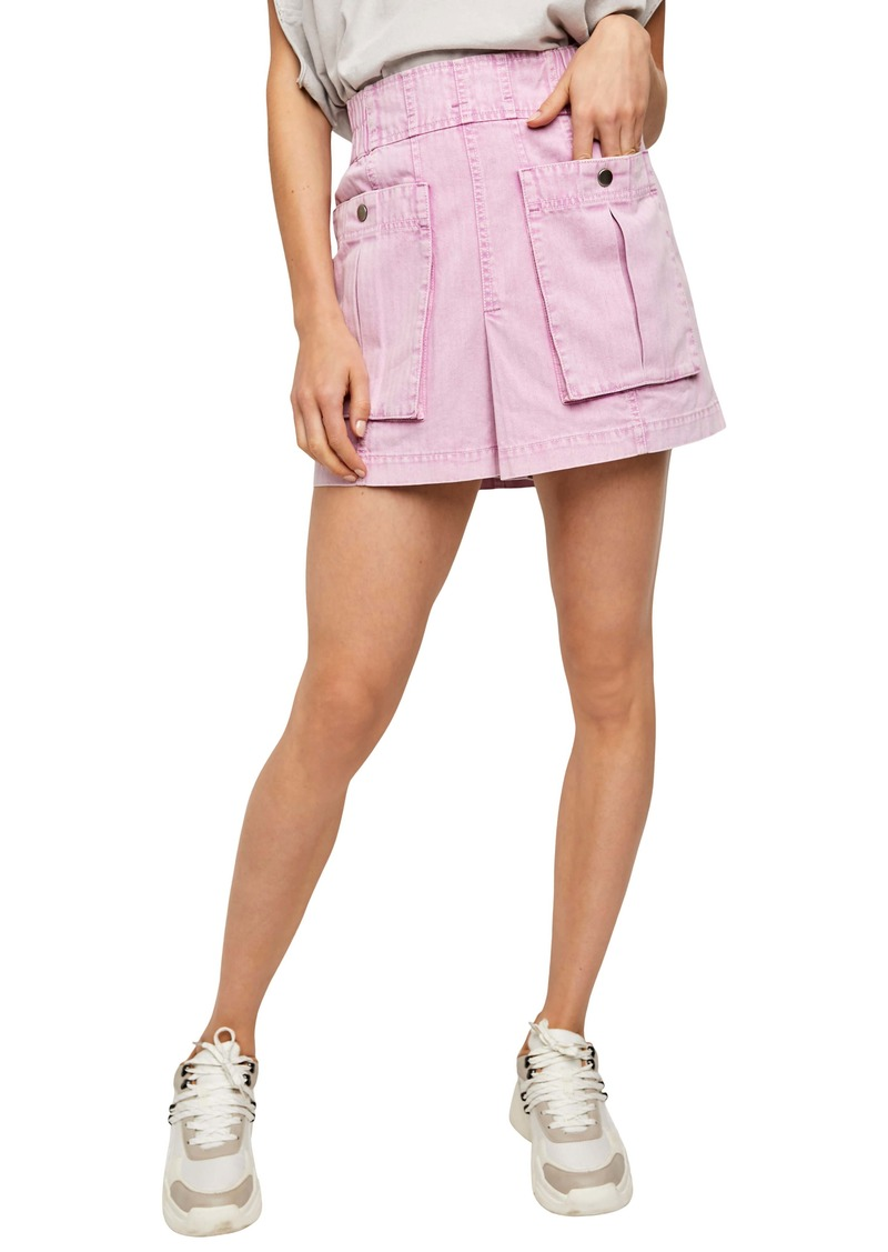 Free People West Coast Wash Cotton Miniskirt