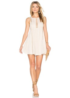 Free People Wherever You Go Mini Dress in White. - size 0 (also in 2,4)
