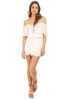 Free People White Romance Romper
