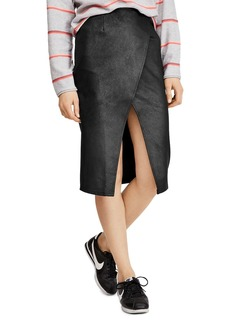 Free People Whitney Faux Leather Pencil Skirt