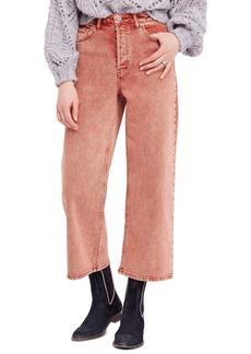 Free People Wide Leg Crop Jeans (Terracotta)