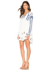 Free People Wild Horses Embroidered Mini Dress