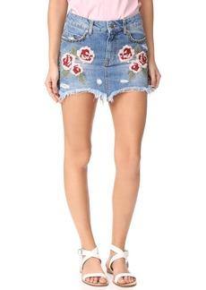 Free People Wild Rose Embroidered Miniskirt