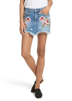 Free People Wild Rose Embroidered Miniskirt