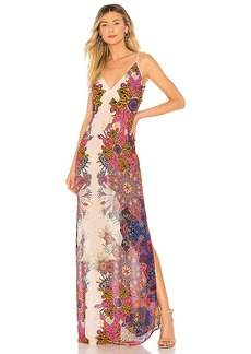 Free People Wildflower Printed Slip Dress