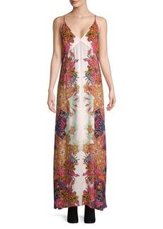 Free People Wildflower Printed Slip Maxi Dress