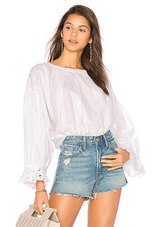 Free People Wishing Well Blouse in Ivory. - size L (also in M,S,XS)