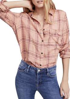 Free People Women's No Limits Plaid Buttondown Top