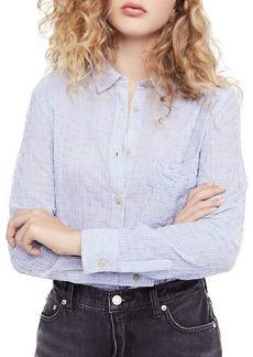 Free People Women's No Limits Stripe Buttondown Top