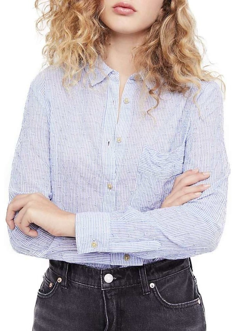 Free People Women's No Limits Stripe Buttondown Top
