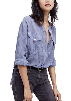 Free People Women's Talk to Me Buttondown Shirt