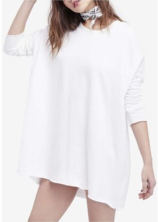 Free People Women's Washed Ashore Solid Crewneck Top
