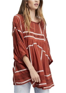 Free People Women's Wild One Embroidered Top