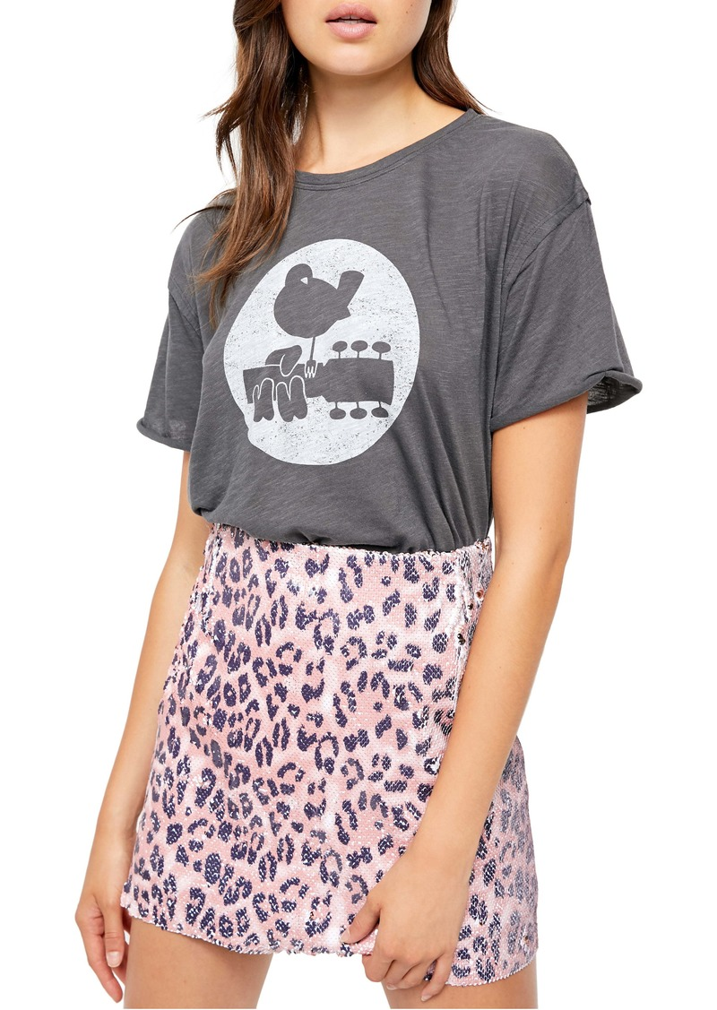 Free People Woodstock Clarity Cotton Blend Tee