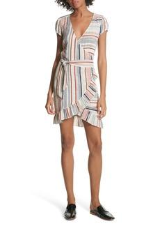 Free People Wrap It Up Stripe Wrap Dress