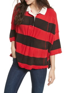 Free People Yuki Oversize Polo