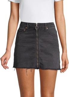 Free People Zippered Mini Skirt