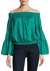 Free People Free Spirit Off-the-Shoulder Smocked Blouse