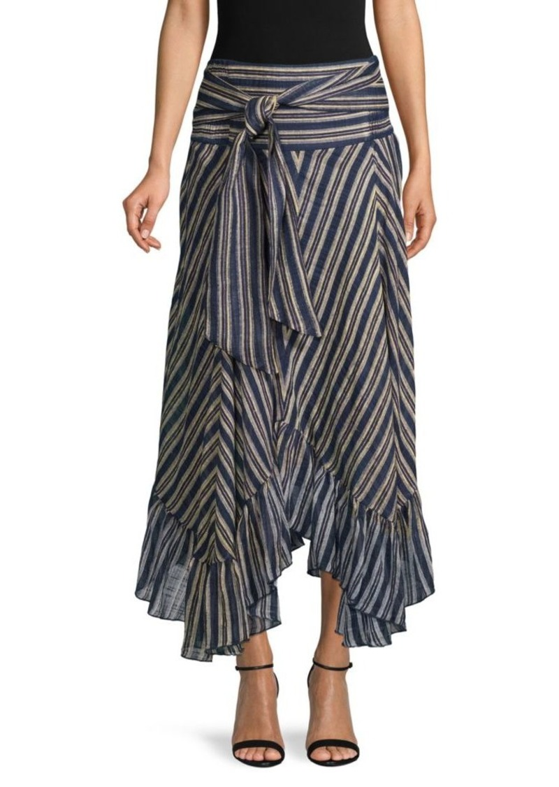 Free People Giselle Striped Flounce Skirt