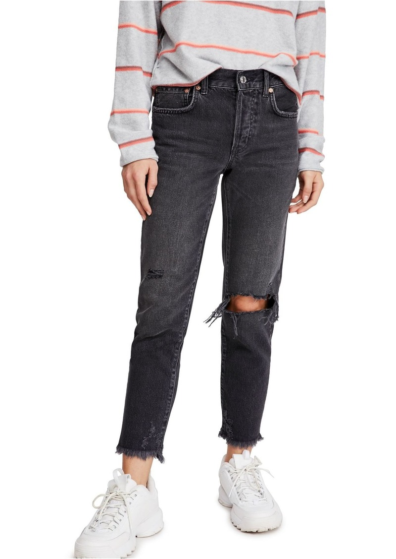Free People Good Times Ripped Ankle Skinny Jeans (Regular & Plus Size)